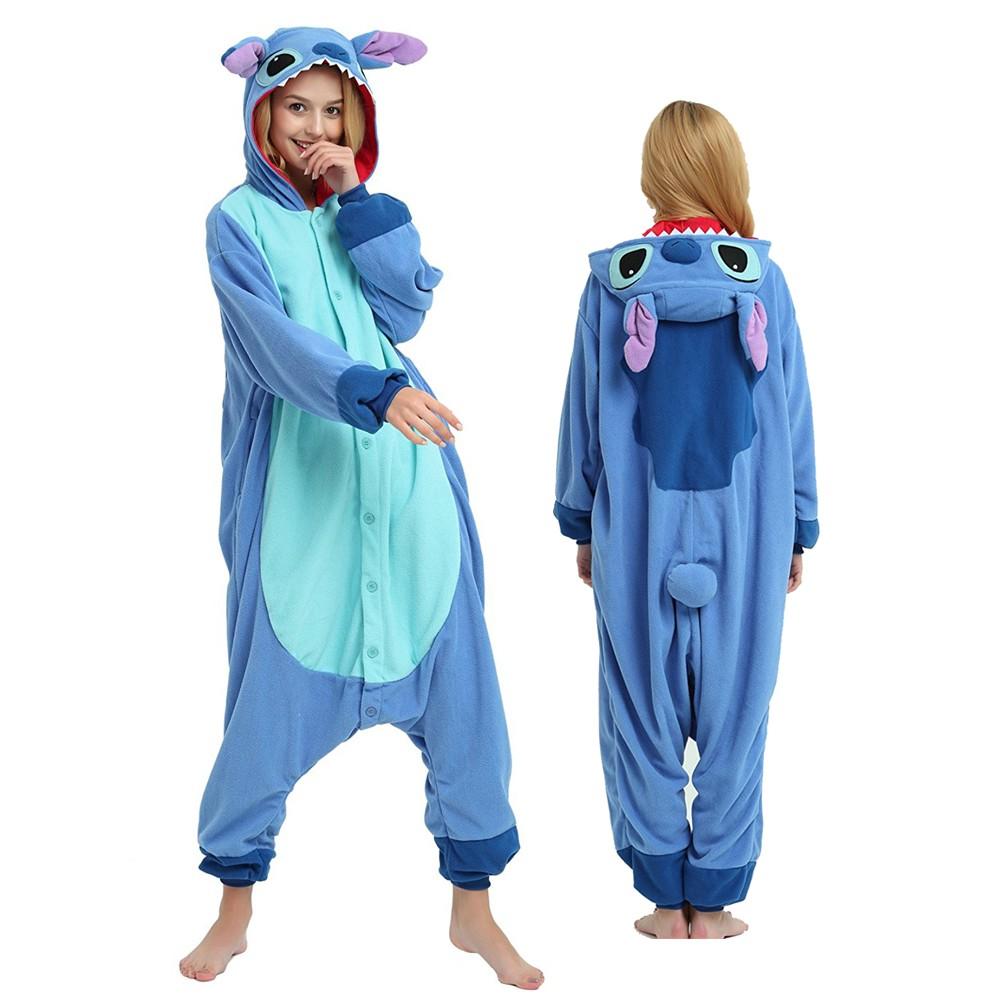 Plus Size Lilo & Stitch Onesie Pajamas for Adult & Teens Animal Onesies
