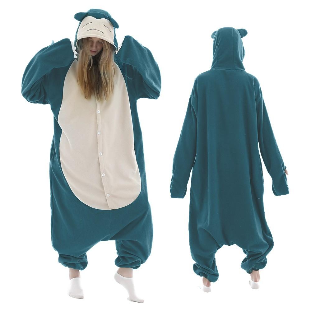 Snorlax Onesie Pajamas for Adult & Teens Animal Onesies