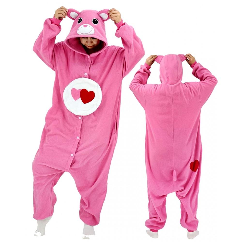 Love a Lot Bear Onesie for Adults & Teens Care Bear Onesie Pajamas