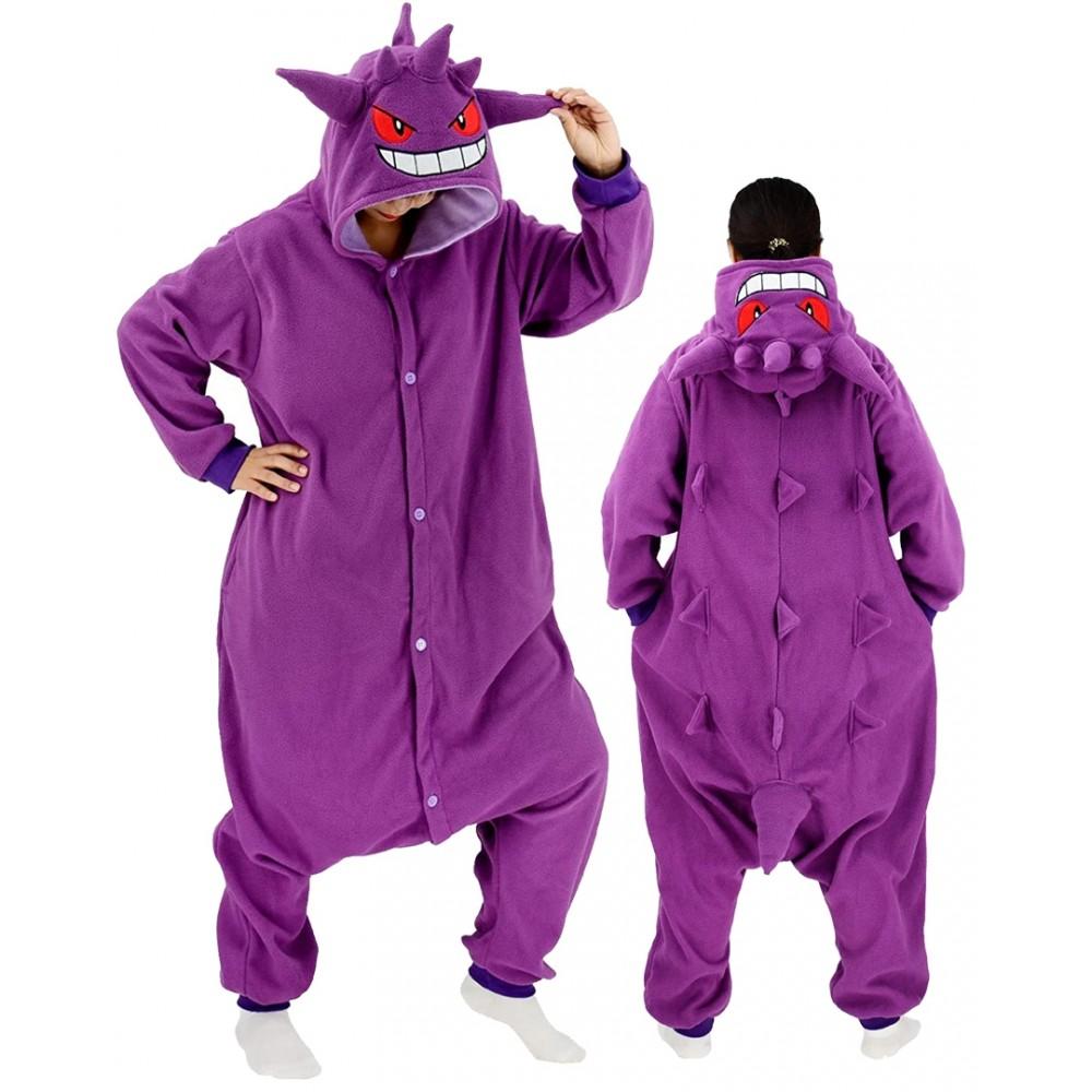 Gengar Onesie for Adults & Teens Pokemon Halloween Costumes