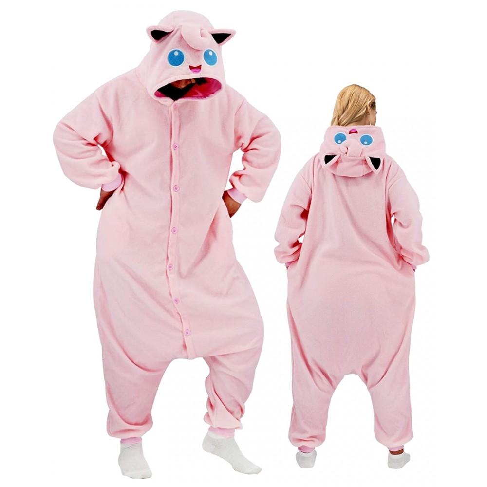 Jigglypuff Onesie for Adults & Teens Pokemon Halloween Costumes
