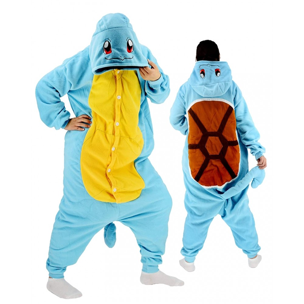 Squirtle Onesie for Adults & Teens Pokemon Halloween Costumes