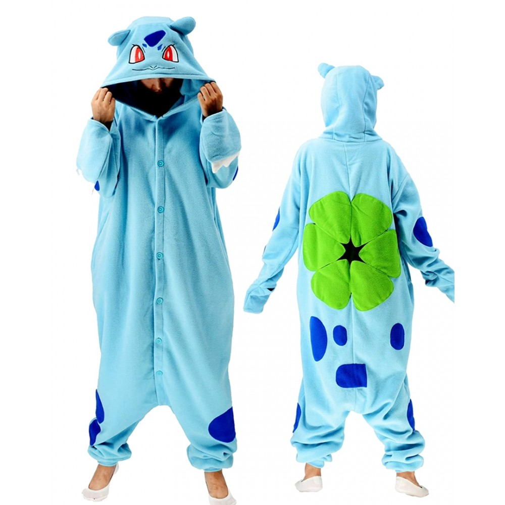 Bulbasaur Onesie for Adults & Teens Pokemon Halloween Costumes