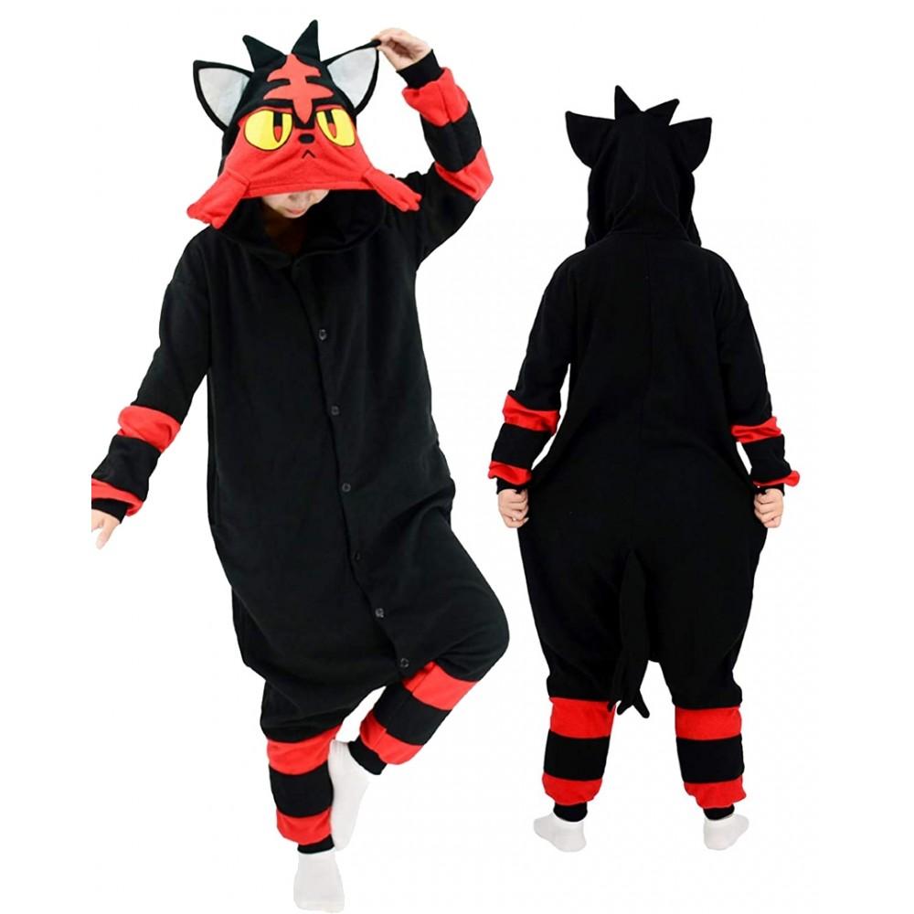 Litten Onesie for Adults & Teens Pokemon Halloween Costumes