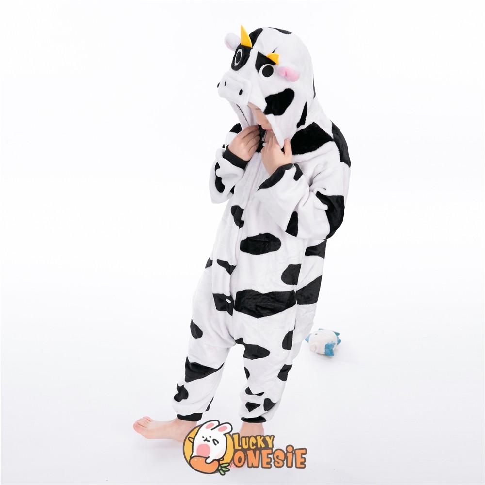 Cow Onesie Pajamas for Kids Animal Onesies - Luckyonesie.com
